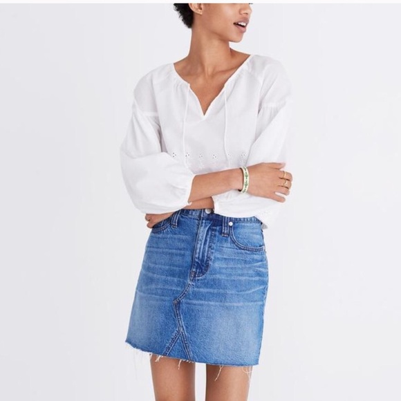 480eaef88 Madewell Skirts | Nwt Denim Skirt | Poshmark